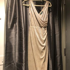 Ralph Lauren Gold Evening Dress